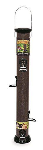 Droll Yankees CC24N 24-Inch Onyx Nyjer Tube Bird Feeder with Removable Base