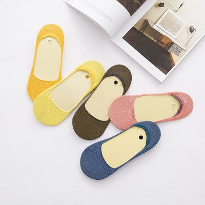 High Quality 5 Pairs/lot Short Socks Women 100% Cotton Socks Glitter Combed Cotton Low Sock Slippers For White-collar Worker