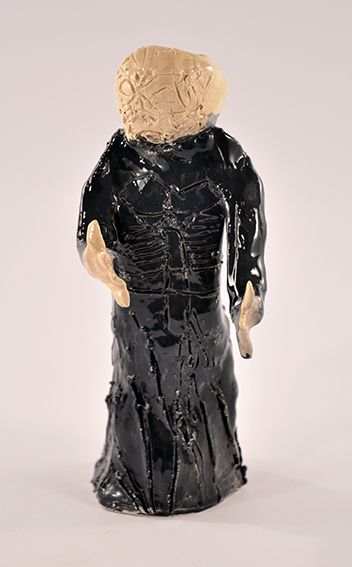 Paul Hodges, Pin Head 2010 ceramic 18 x 6 x 5cm © Artist Represented by Arts Project Australia