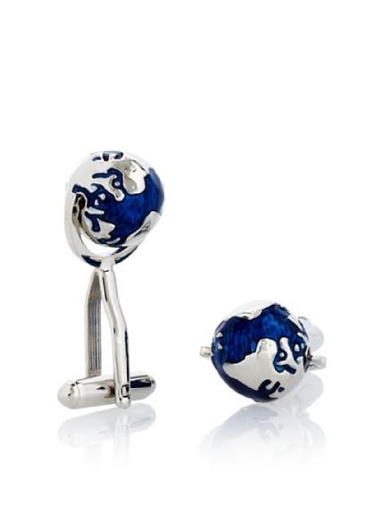 Link Up Men's Spinning Globe Cufflinks. $125.00
