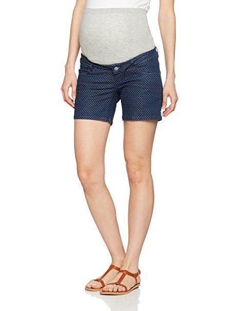 MAMALICIOUS Damen Umstandsshorts Mldot Shorts, Blau (Medium Blue Denim), W26