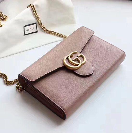 358432fb910 Gucci GG Marmont Leather Mini Chain Bag 401232