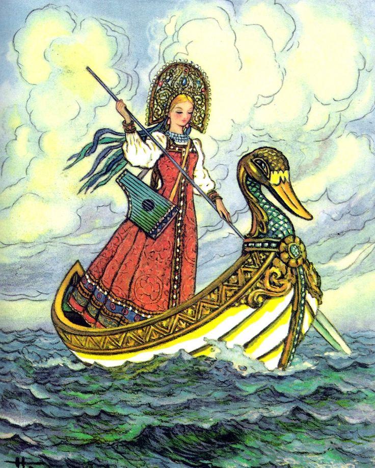 Картинка к сказке царь девица