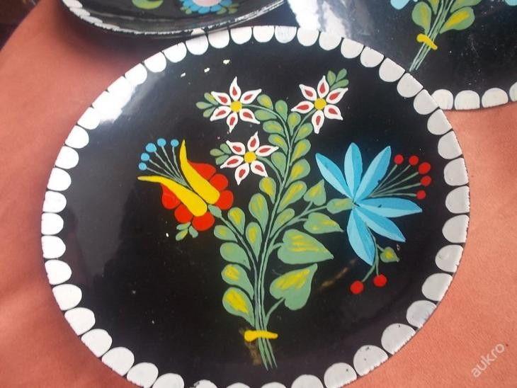 Wanddeko - SEHR ALTER UNGARISCHER WANDTELLER NAIVE MALEREI  - ein Designerstück von ausBoehmensHainundFlur bei DaWanda