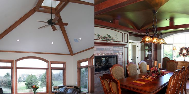 Two Different Types Of Vaulted Ceilings In 2019 Dining