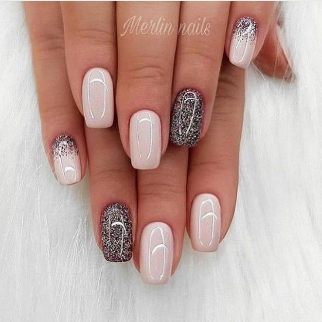130 Glitter Gel Nail Designs For Short Nails For Spring 2019 Page