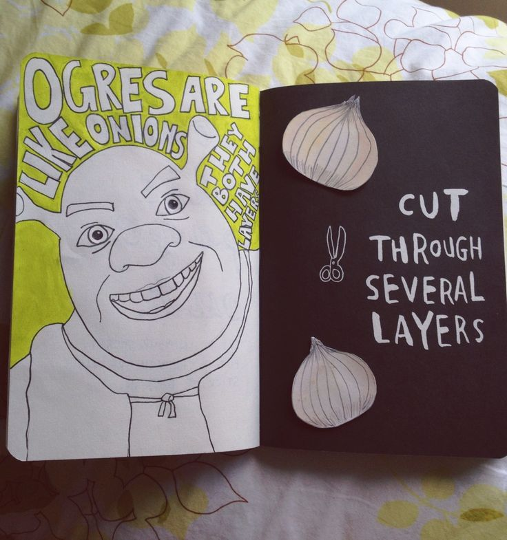 Wreck This Journal Inspiration - Cut Through Several Layers