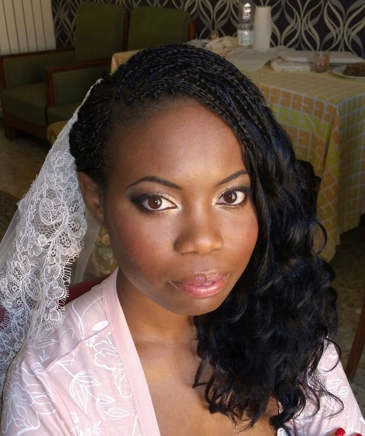 African American wedding makeup in Rome, italy  http://janitahelova.com/