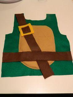 Felt Ninja Turtle Costume Tutorial, this would be great in fleece