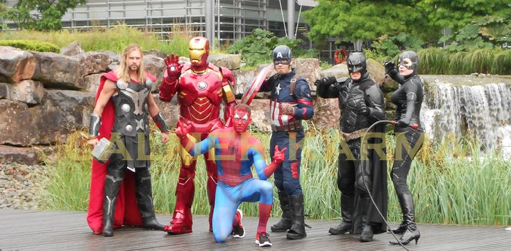 Spiderman, Ironman, Thor, Catwoman, Batman, Captain America the lookalikes that will save the world and your Superheroes corporate event.  Available to hire across the UK inc MANCHESTER, CARDIFF, LONDON, BIRMINGHAM, NEWCASTLE and Stoke. www.calmerkarma.co.uk Tel:  0203 602 9540