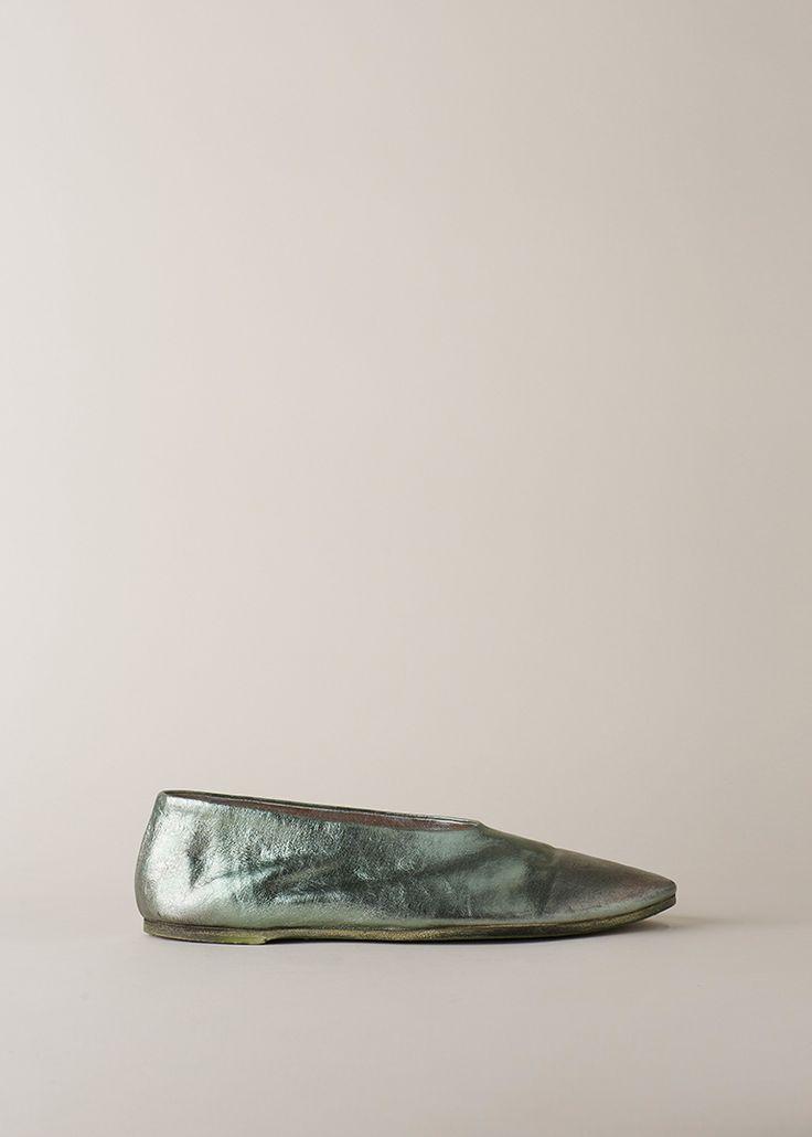 Totokaelo - Marsell Metallic Green Coltellaccio Flat