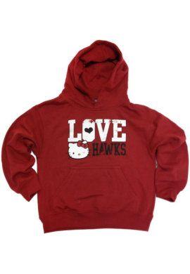 TOPLINE SCREEN PRINTING & : Saint Josephs University Love Hawks Girls Hooded Sweathshirt : Saint Josephs University Bookstore
