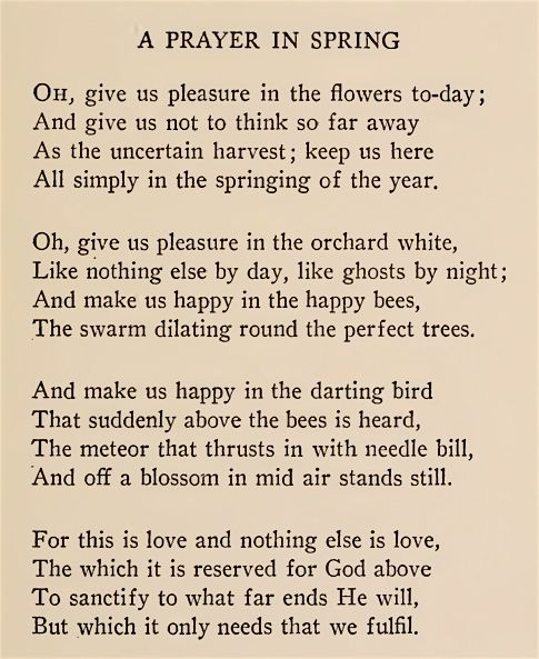 A Prayer In Spring Poem by Robert Frost (1915)