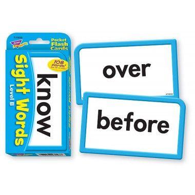 Sight Words - Level B Pocket Flash Cards