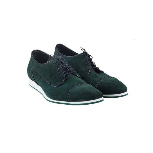Pánske kožené športové topánky zelené PT123 - manozo.hu
