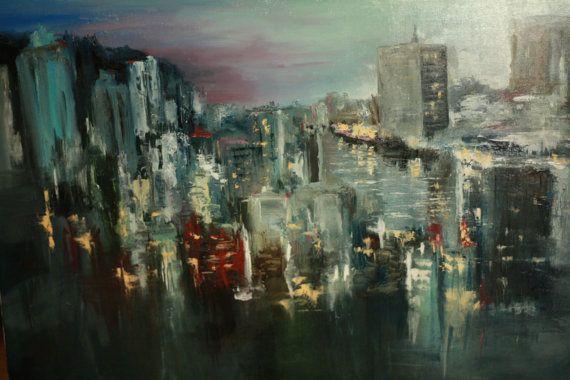 Oil Painting City life от TimanovArt на Etsy