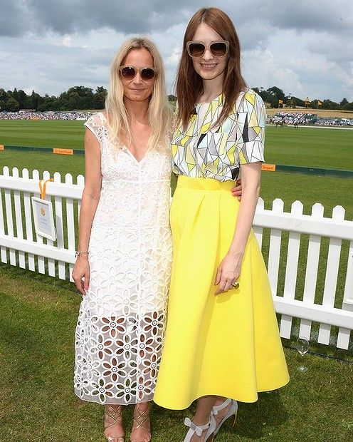 Martha Ward and Roksanda Ilnicic attends the Veuve Clicquot Gold Cup Final at Cowdray Park Polo Club on July 20, 2014 in Midhurst, England. #polo #fashion #smh #lifeandstyle