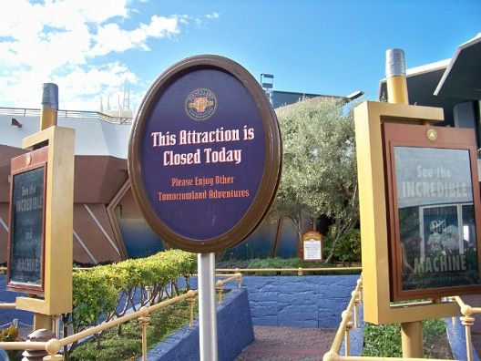 Ride Closures-Most Hated Things About Disneyland