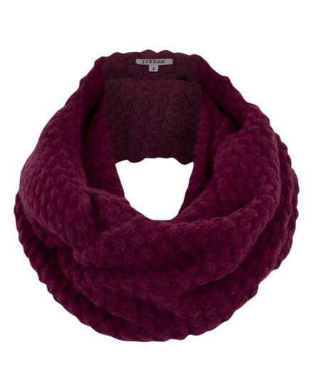 Lambswool Blend Cable Knit Snood #jigsawessential