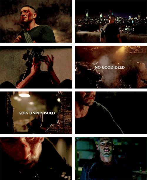 Punisher: You know you're one bad day away from being me. #daredevil
