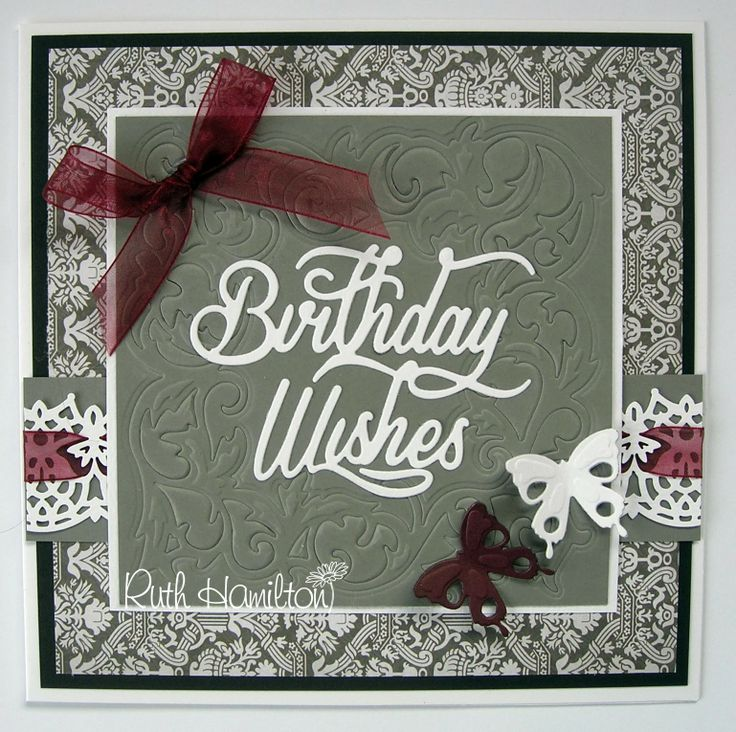 A Passion For Cards: Embossing with a die