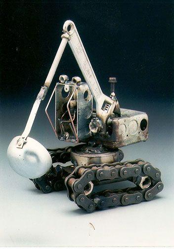 BackHoe. Dick Cooley Sculptural Metal Designs