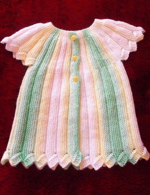 Short-rows Sideways Baby Vest ~~ Kısa Kollu Robadan Bebek Yeleği Modelleri | Derya Baykal Örgüleri