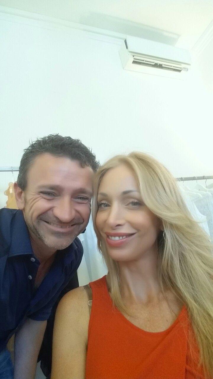 Con Federica Bertoni in Monte Napoleone Milano