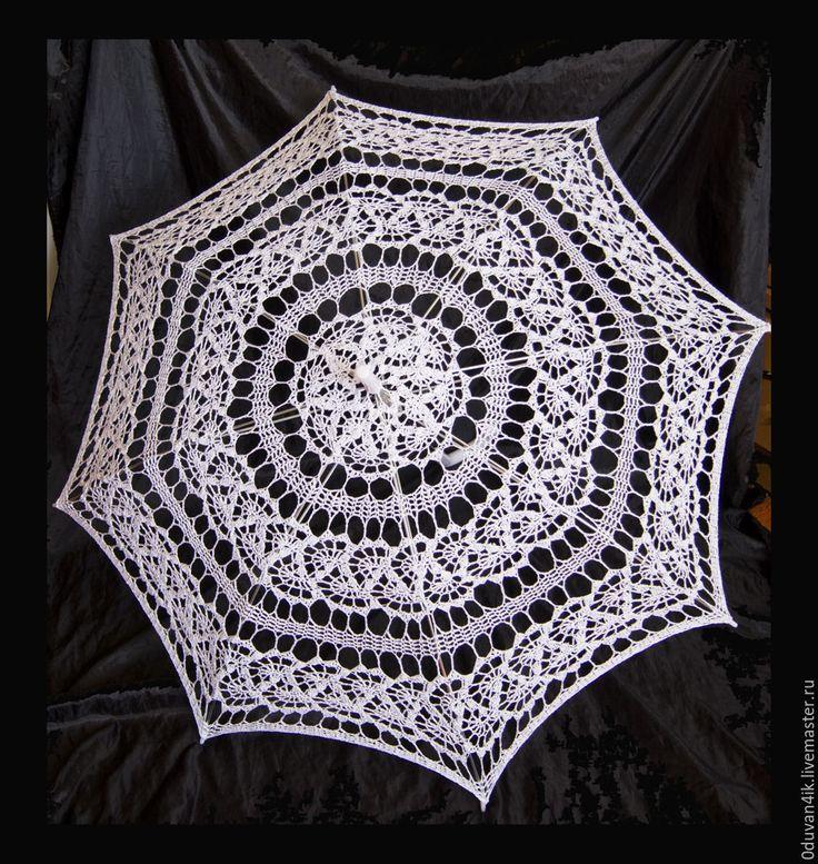 Купить Комплект №26 - белый, зонт, веер, свадьба, свадьба 2016, свадебные…