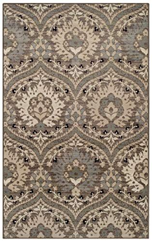 Superior Elegant Augusta Area Rug Floral Scalloped Contemporary Pattern 9 X 12 Light Blue 9x12 Area Rugs Area Rugs Floral Area Rugs