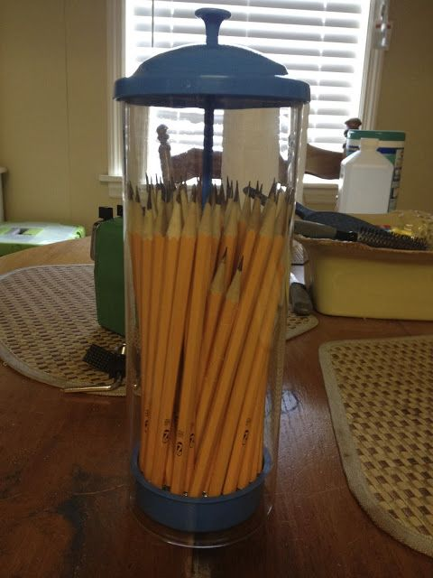 Try this you can paint it colors of dorm. Hold Shaprpies, pencil holder diy dorm college organization #college #dorm #diy #upcycle #pencilholder #organization