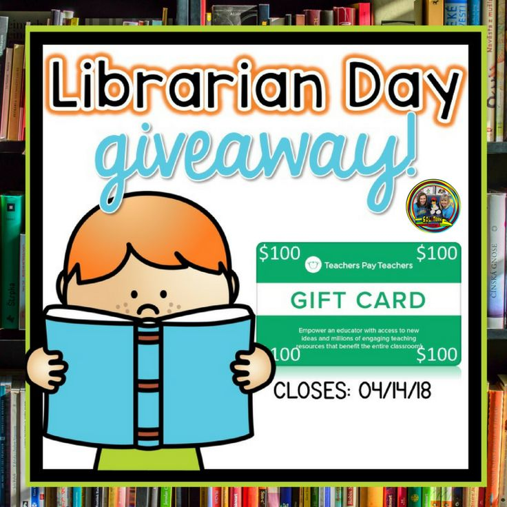 Librarian Day Giveaway! - SOL Train Learning- We have joined some amazing teachers to bring you an opportunity to win a $100 TPT gift card! Be sure to enter! #teacherspayteachers #teachersfollowteachers #teachersofinstagram #teachers #tpt ltrainlearning#giveaway #teacherlife