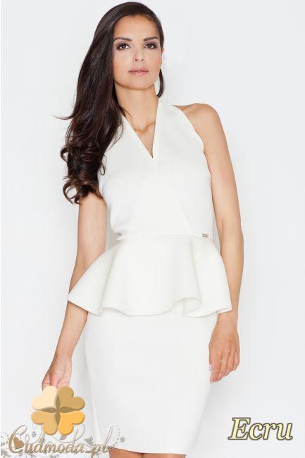 Bluzka baskinka z dekoltem karo marki FIGL.  #cudmoda #moda #ubrania #odzież #clothes #styl