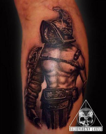 Gladiator realistic tattoo