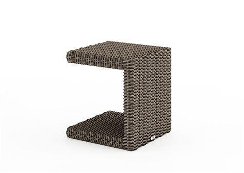 prirucny stolik z umeleho ratanu pieskovy