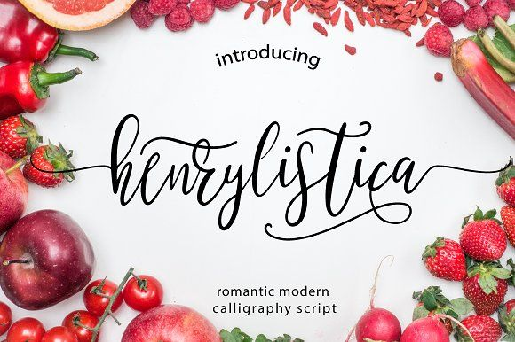 Henrylistica Script by Mellow Design Lab on @creativemarket
