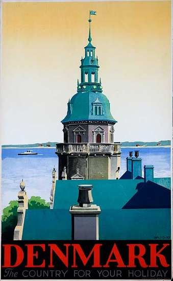 Denmark The Country For Your Holiday Original Travel Poster, 1937, Splid