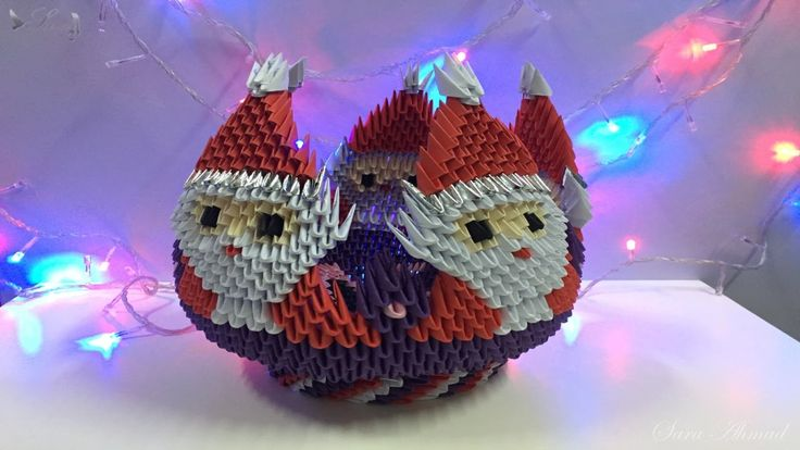 132 best images about 3d origami on pinterest reindeer for Make origami santa claus