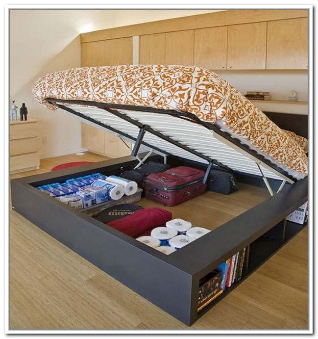Storage bed frame diy bed storage best storage ideas - Best platform beds with storage ...