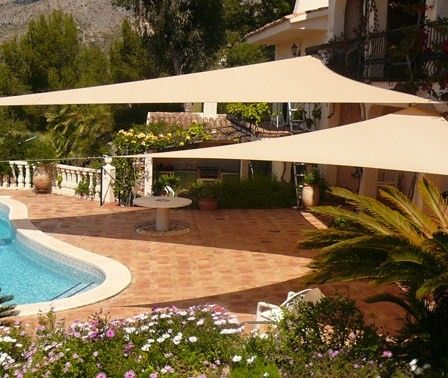 Charming Best 25+ Triangle Shade Sail Ideas On Pinterest   Awnings And Shade Sails,  Triangle Sun Shade And Sun Shade Canopy