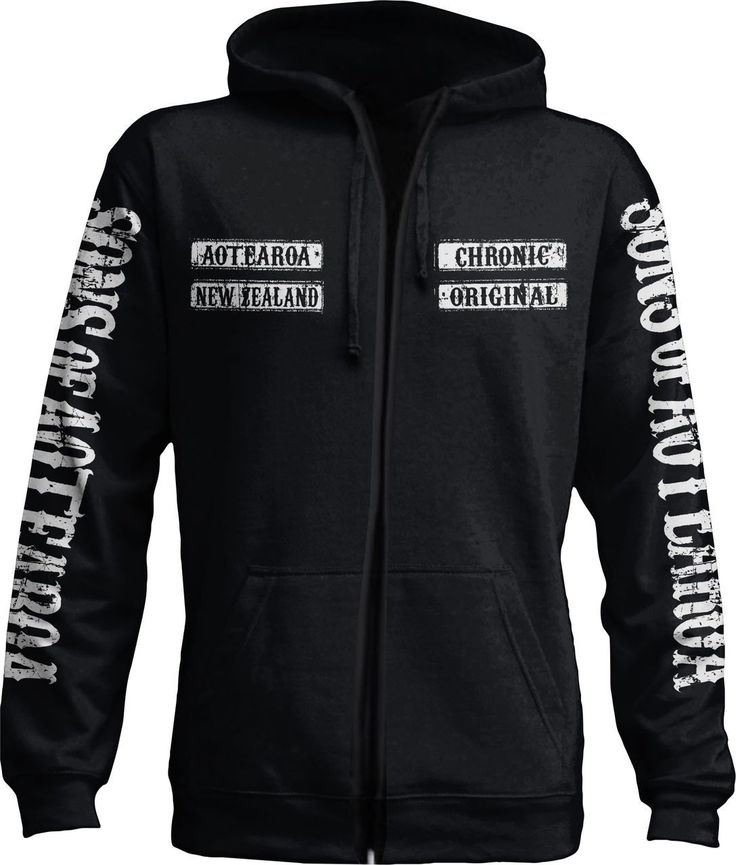 Sons of Aoteroa NZ zip up hoodie