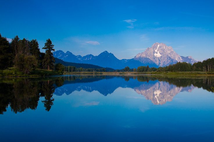 Mount Moran reflected in the Oxbow Bend of the Snake River. Grand Teton National Park WY. (1200x800) Jerry Mercier