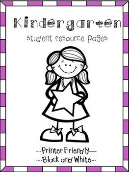 Free - Kindergarten Help Pages for Reading and Math Folders, Homework Folder