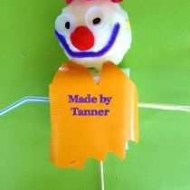 Awesome puppet made by Tanner today in one of my puppet making workshops at Lysterfield Primary School