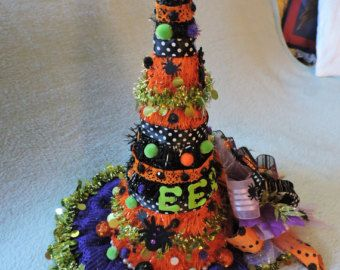 witch hat centerpiece halloween centerpiece by virginiawreathco - Halloween Centerpieces
