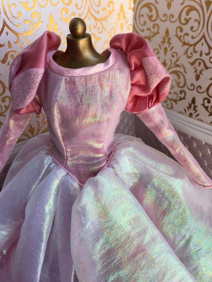 Ariel Pink Palace Dress Little Mermaid Disney Princess Barbie Doll