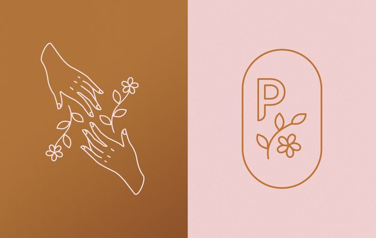 Modern and rustic logo design and illustrations. #logodesign #rustic #illustrations #floral #botanical #feminine