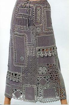 Вязанные бохо юбки