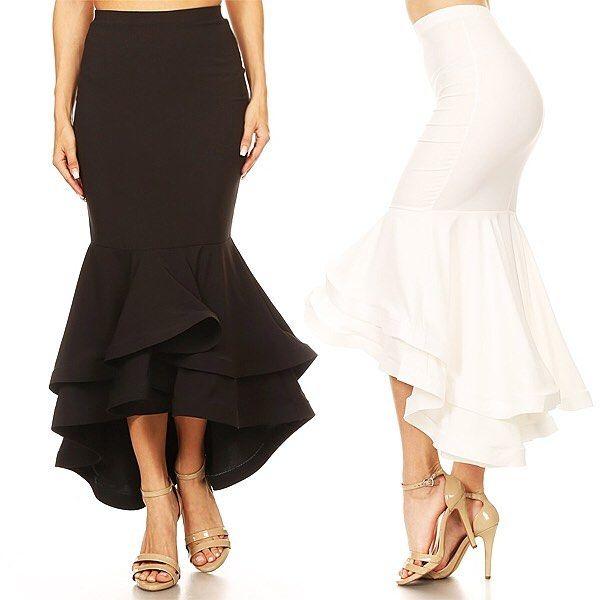 Ruffled High Low Midi Skirt WholesaleIG: @Voila_Apparel #wholesale #manufacturer #wholesalefashion #boutique #wholesale #clothing #popular #bodycon #style #dress #womensfashion #wholesalestyles #wholesaler
