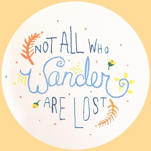 Not All Who Wander Are Lost DIY painting